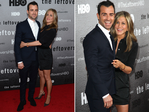 Pics! Jennifer Aniston and Justin Theroux's PDA-Packed Night in NYC