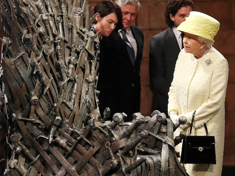 'Game of Thrones': That Time Queen Cersei Met Queen Elizabeth II!