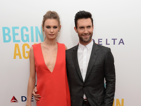 Date Night! Adam Levine Steps Out with Fiancée Behati Prinsloo