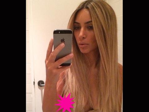 Kim K's Nipple Steals the Spotlight in Latest Selfie