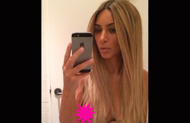 Kim K's Nipple Steals the Spotlight in Latest Selfie