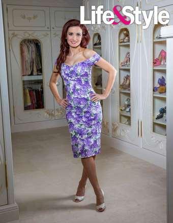 Holly purple flower dress
