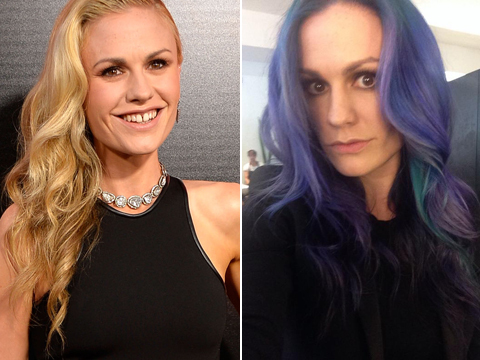 Star Makeover! Anna Paquin Debuts Purple and Aqua Mermaid 'Do