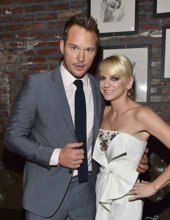 "Chris Pratt and Anna Faris attended the L.A. premiere of ""Guardians of the Galaxy."""