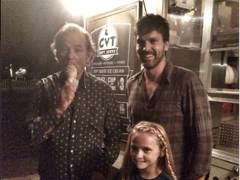 Bill Murray Surprises Man's 'Bill Murray Ice Cream Social' -- See the Pics!