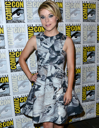 "Tina Majorino hit the Comic-Con red carpet to promote ""The Giver."""