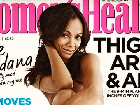 Pic! Zoe Saldana Poses Naked for Women's Health UK