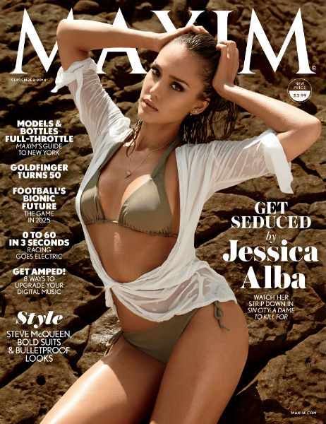 Jessica Alba Makes a Splash on the Cover of Maxim