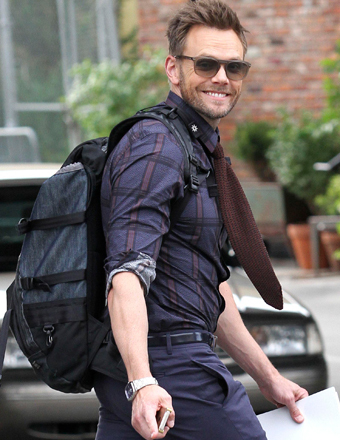 Joel McHale took a stroll in Manhattan's Meatpacking