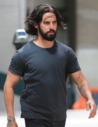 """Heroes"" alum Milo Ventimiglia was looked unrecognizable while filming ""The Whispers"" in Vancouver."