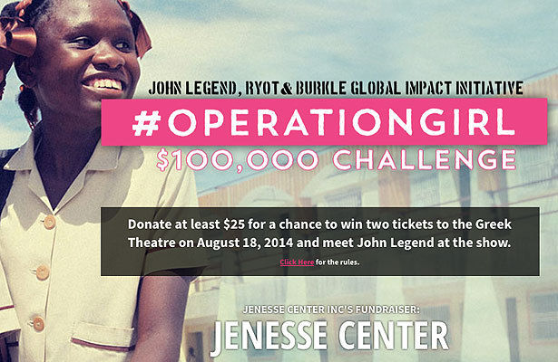 John Legend, RYOT & Burkle Global Impact Initiative Support Jenesse Center