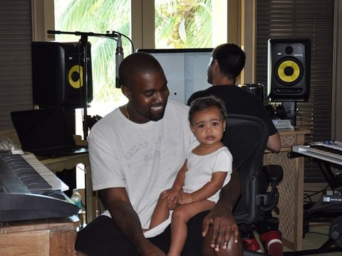 Kim Kardashian and Kanye West Share an Adorable 'Bring Your Daughter To Work Day' Pic!