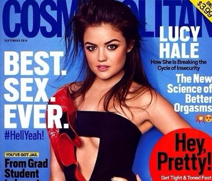 Lucy Hale Apologizes to Dad for Racy Cosmo Teasers