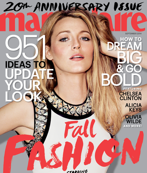 Blake Lively Gossips with Marie Claire About Ryan and Babies