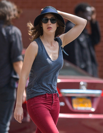 Lizzy Caplan was spotted on a stroll in NYC.