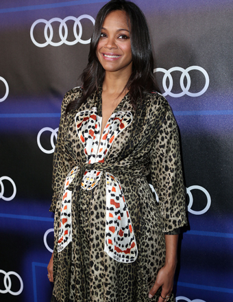 Zoe Saldana attended Audi's Pre-Emmys party at Cecconi's Restaurant in L.A.