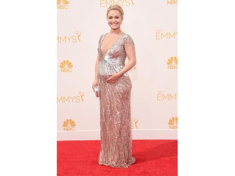 Hayden Panettiere Accidentally Reveals Baby's Gender on Emmys Red Carpet!
