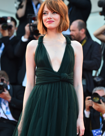 "Emma Stone attended the opening ceremony and ""Birdman"" premiere at the Venice Film Festival."