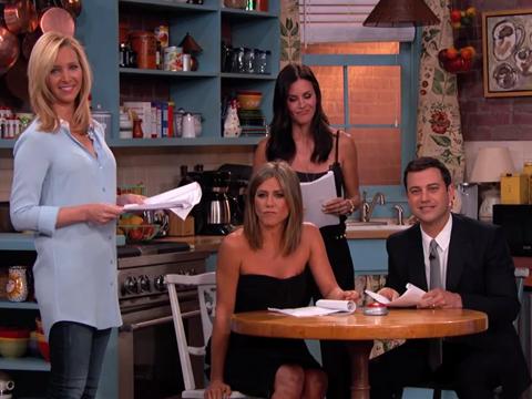 Jennifer Aniston and 'Friends' Reunite to Read Fan Fiction on Kimmel