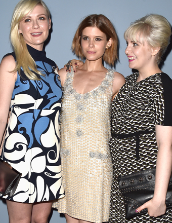 "Kirsten Dunst, Kate Mara and Lena Dunham attended the ""Miu Miu Women's Tales #7 - #8"" premiere at the Venice Film Festival."