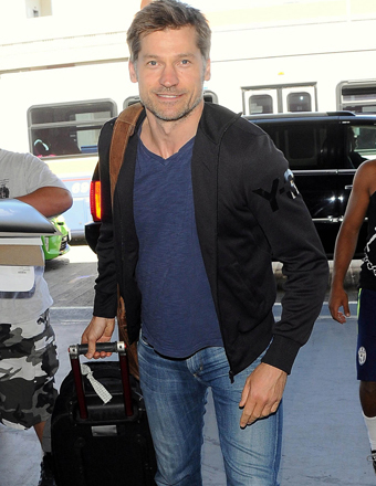 """Game of Thrones"" actor Nikolaj Coster-Waldau boarded a flight at LAX."