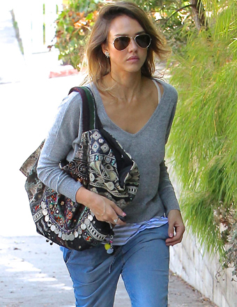Jessica Alba spent Labor Day in Malibu.