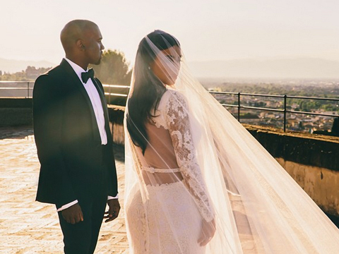 Kim K Posts Stunning, Never-Before-Seen Wedding Photo