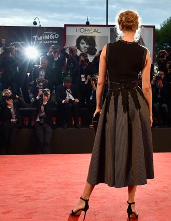 "Uma Thurman attended the ""Nymphomaniac: Volume 2 - Directors Cut"" premiere at the Venice Film Festival."