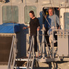 Angelina Jolie Visits Battleship in Malta after Honeymoon with Brad and the Kids