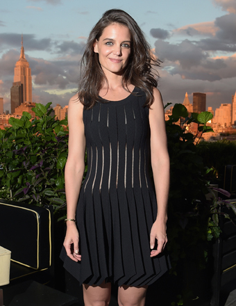 Katie Holmes attended a DuJour Magazine party in her honor in NYC.