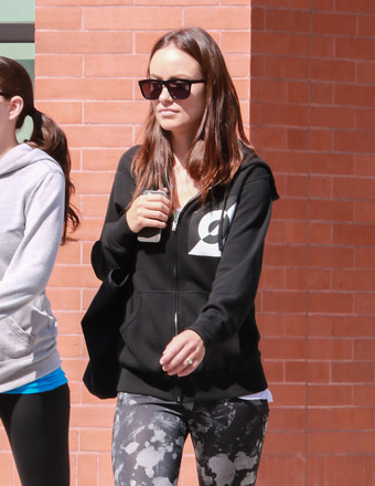 New mom Olivia Wilde hit the gym in NYC.