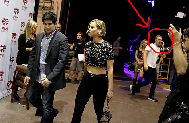 First Pic of Jennifer Lawrence & Chris Martin -- Sneaking into His Dressing Room!
