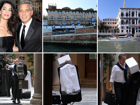George Clooney's Wedding Preparations Under Way in Venice