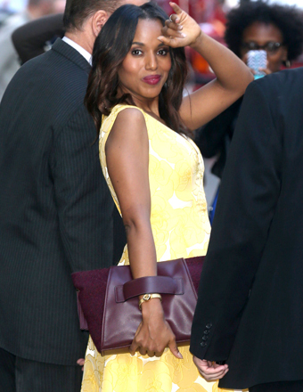 "Fashionista Kerry Washington, who stopped by ""GMA"" on Tuesday in NYC, is helping to launch a ""Scandal"" clothing line."