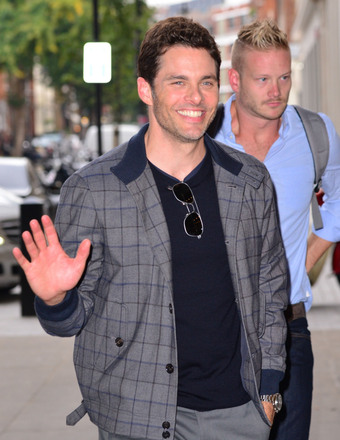 James Marsden stopped by BBC Radio One Studios in London.