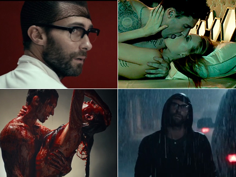 Adam Levine and Wife Get Naked and Bloody in Creepy New 'Animals' Video
