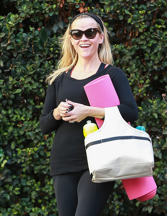 Reese Witherspoon was ready to strike a pose on Wednesday at a yoga class in Brentwood.