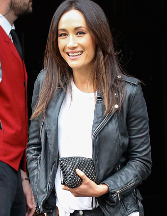 "Maggie Q was spotted in NYC while promoting her new CBS TV series, ""Stalker."""