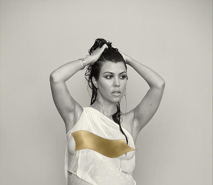 Take That, Kim! Kourtney Kardashian Nearly Naked and ...