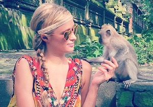 Paris Hilton Monkey Business in Bali... Yes, We Said It!