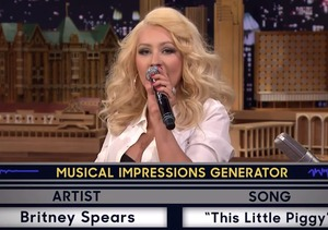 Watch Christina Aguilera's Hilarious Britney Spears Impression!