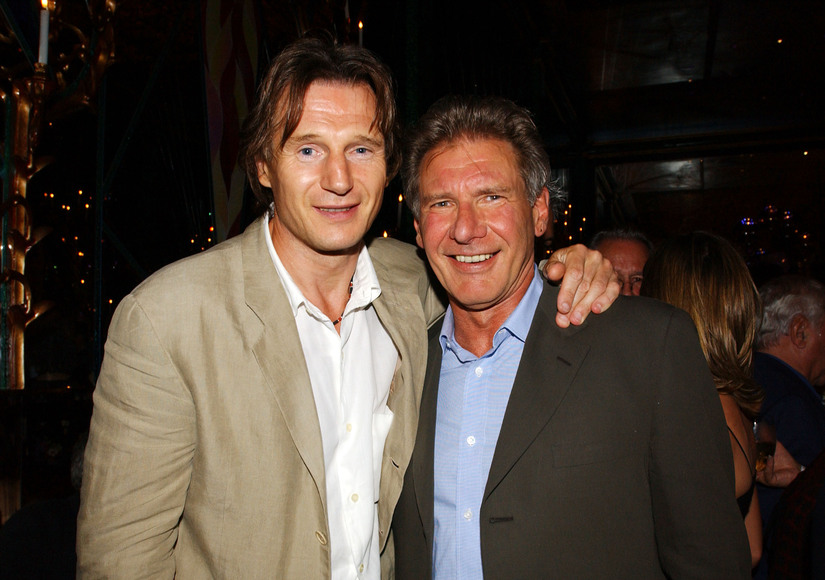 Photo of Liam Neeson & his friend actor  Harrison Ford - Longtime