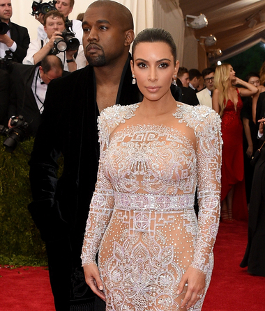 Kim K Stuns in Eye-Popping, See-Through Gown at Met Gala