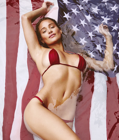 Swimsuit Supermodel Hannah Davis Gets Red White and Hot for the 4th…
