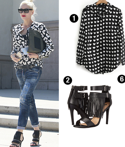 Hearts on Her Sleeve! Steal Gwen's Sunday Style
