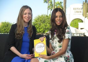 Chelsea Clinton Visits 'Extra' to Remind Kids 'It's Your World'