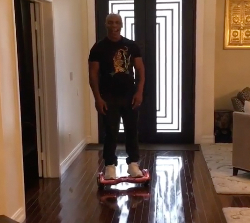Wipe Out! Mike Tyson Takes a Tumble on His Hoverboard