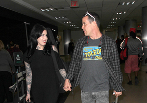 Kat Von D and Steve-O Share Some Airport PDA