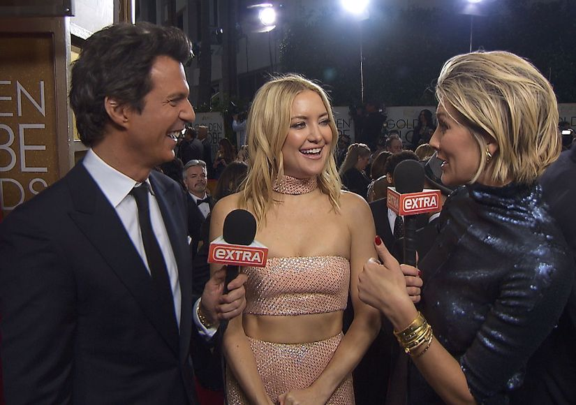 Golden Globes: Charissa Thompson Has a Girl Crush on Kate Hudson