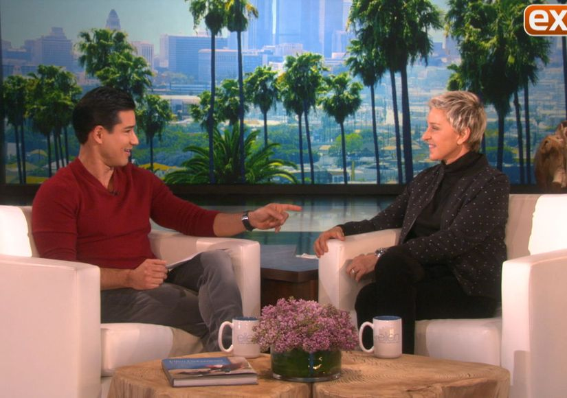Ellen Dishes with Mario About Her New Puppy, the Super Bowl and More